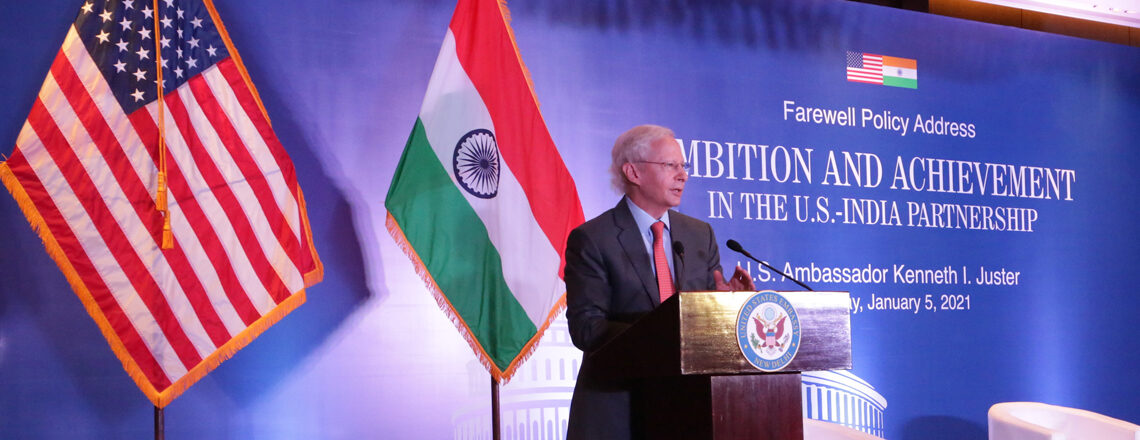 Farewell Address by Ambassador Kenneth I. Juster: