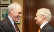 U.S. Secretary of the Navy Richard V. Spencer with Ambassador Kenneth I. Juster in New Delhi