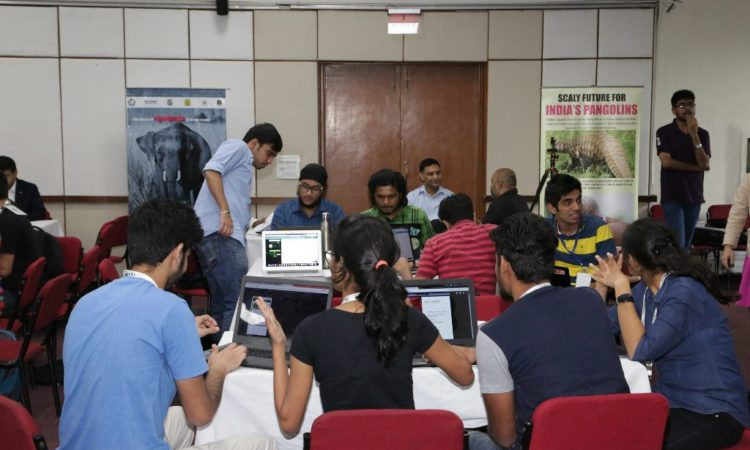 Zoohackathon was organised for the first time in India by the U.S. Embassy, TRAFFIC India and WWF-India at the WWF-India Secretariat on 7-8 October 2017