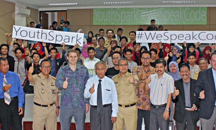 Microsoft Coding Training #WeSpeakCode at State Islamic University During 4th of July Celebrations (State Dept/ Esti Durahsanti)