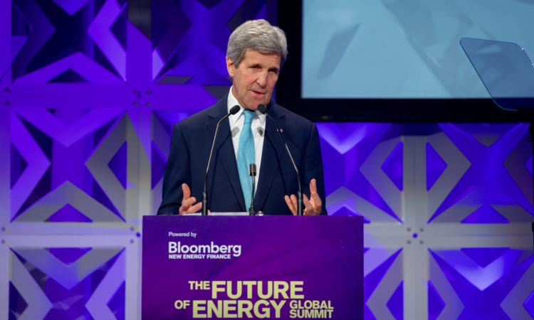 Remarks by Secretary of State John Kerry at Bloomberg New Energy Finance Summit (State Dept./ AP Images)