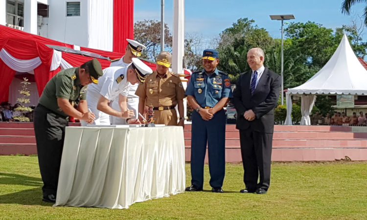 USNS Mercy, Pacific Partnership Mission Arrive in Bengkulu (State Dept. / U.S. Consulate Medan)