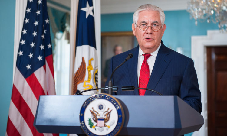Statement by Secretary Tillerson: President Trump's Decision to Recognize Jerusalem as Israel's Capital (State Dept.)