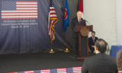 Ambassador Donovan' Remarks at New Embassy Compound Dedication Ceremony (State Dept. / Budi Sudarmo)