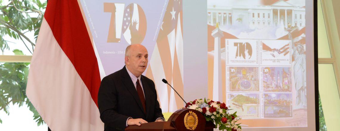 Ambassador Donovan's Remarks at the 70th Anniversary Commemorative Stamp Ceremony