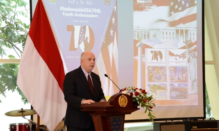 Ambassador Donovan's Remarks at the Commemorative Stamp Ceremony (State Dept. / Erik A. Kurniawan)