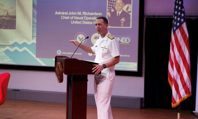 Remarks of Admiral John M. Richardson, Chief of Naval Operations (State Dept. / Rakesh Surampudi)