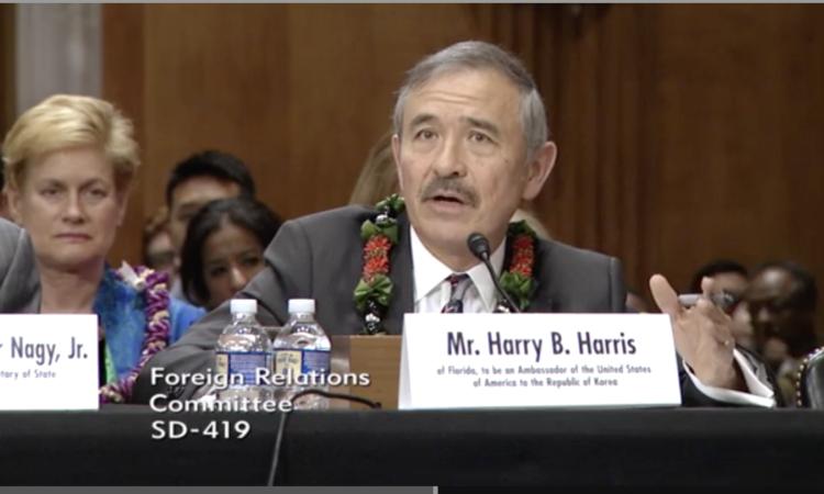 2018년 6월 14일 - 주한미국대사 지명자 해리 B 해리스 주니어, 상원 외교위원회 출석 (미국 상원 사진)