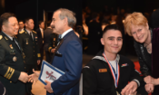 Ambassador Harry Harris Congratulates Soldiers Honored at Six Star Salute