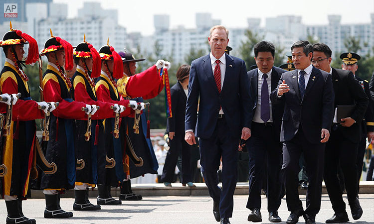 Acting U.S. Defense Secretary Patrick Shanahan Meets ROK Defense Minister Jeong