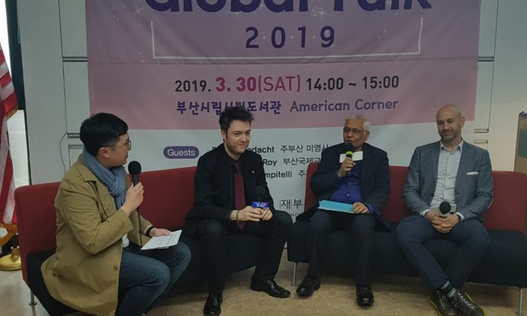 Consul Addresses Global Talk at Busan American Corner