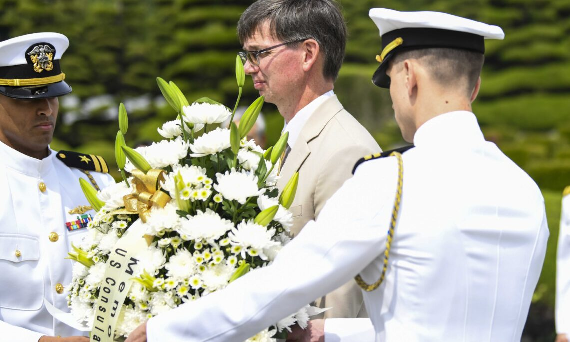 Acting Consul Brian Peterson Joins U.S. Memorial Day Commemoration Ceremony at UNMCK