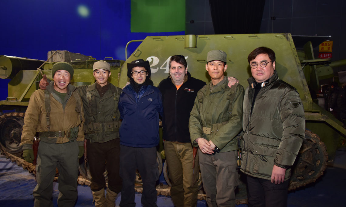 "March 1, 2016 - Ambassador Mark Lippert visited the set of the upcoming Korean film ""Operation Chromite"" where he met with the director and cast including actor Lee Jung-Jae."