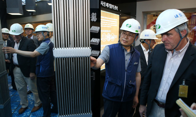 U.S. Nuclear Regulatory Commission Chairman Stephen Burns visited the new Shin-Kori 4 nuclear power plant during the July 10-16 trip to South Korea and examined the newest nuclear power stimulator of Korea to support America's expanding energy partnership with Korea demonstration.
