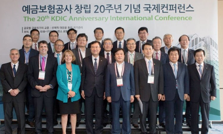 Ambassador Mark Lippert attended Korea Deposit Insurance Corporation's 20th anniversary conference and met with former Federal Deposit Insurance Corporation chair Sheila Bair.