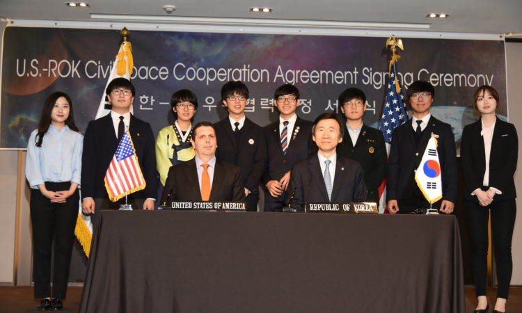 04/27/16 - Ambassador Mark Lippert Remarks at Civil Space Agreement Signing Ceremony