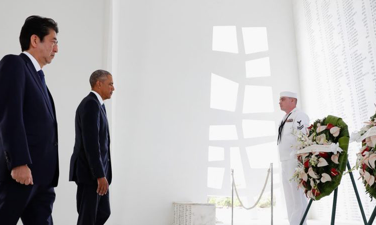 A message of peace as Obama and Abe honor fallen at Pearl Harbor