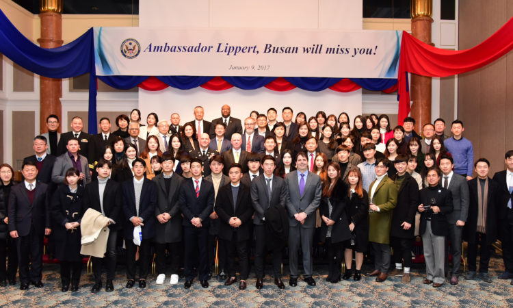 Busan Bids Fond Farewell to Ambassador Lippert