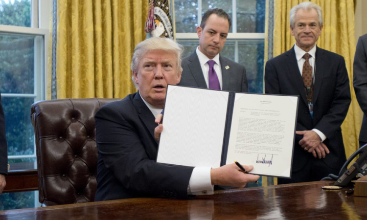 Donald Trump Signs Three Executive Orders -
