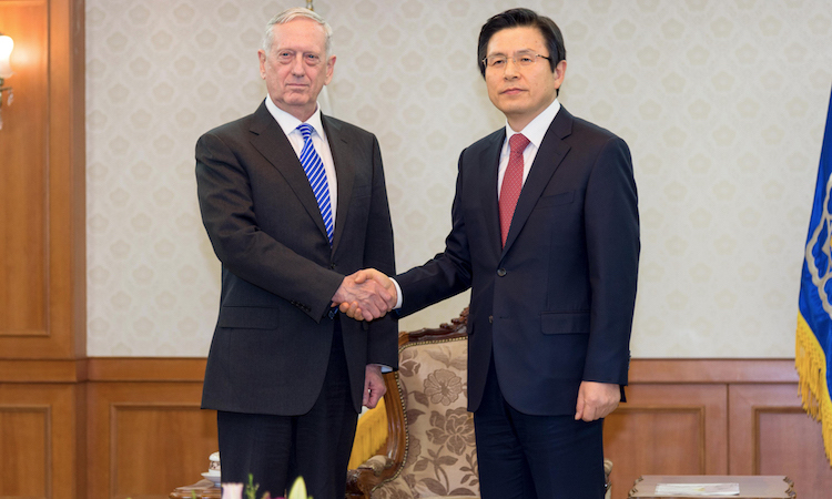 Readout : Secretary Mattis' Meetings with ROK Acting President and ROK Nat'l Security Advisor