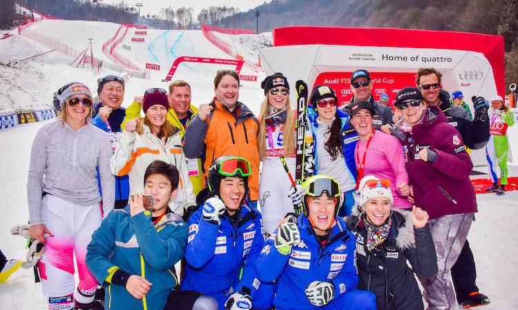 Chargé d'Affaires Marc Knapper Attends Olympic Alpine Ski Test Event