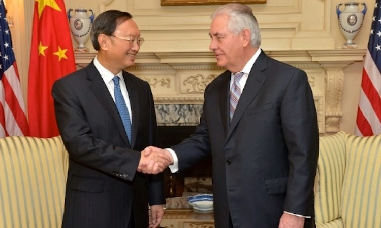 Secretary Tillerson's Meeting with State Councilor of the People's Republic of China (PRC) Yang Jiechi