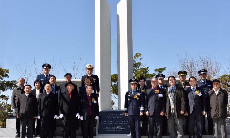 Chargé d'Affaires Marc Knapper Attends Colonel Dean Hess Monument Unveiling
