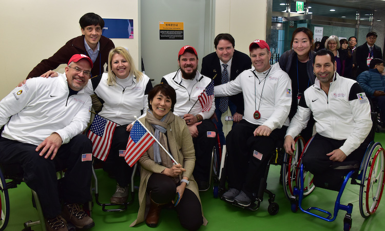 Team USA at PyeongChang Paralympic Curling Test Event