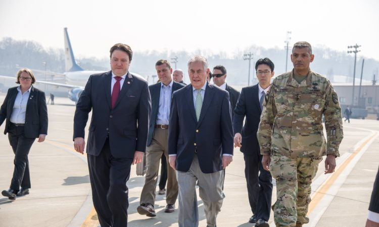 Secretary of State Rex Tillerson's visit to Korea