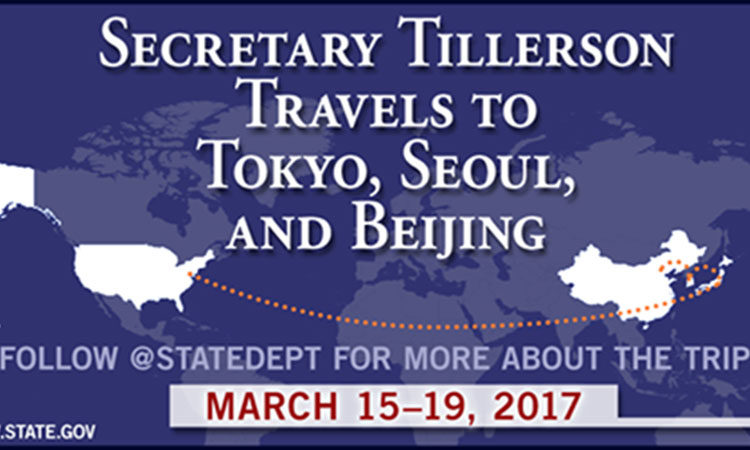 Secretary Tillerson's Travel to South Korea