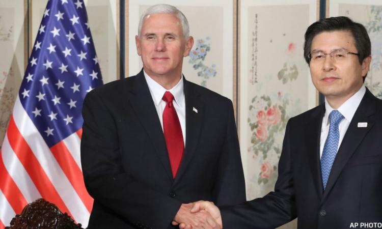 U.S. Vice President Pence Meets South Korean Acting President Hwang (AP Image)
