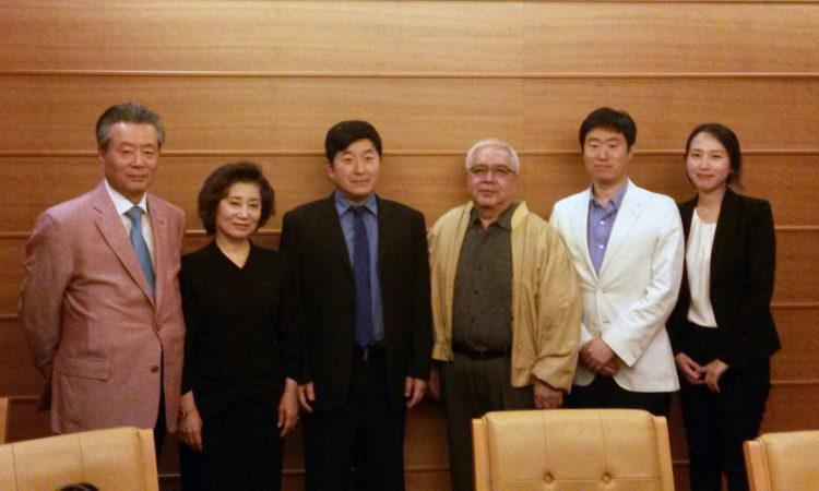 Dae Kim, Ronald Sablan, and Kang-Dong Hospital staff