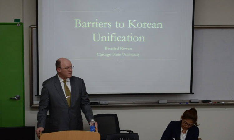 U.S. Speaker Discusses Barriers to Korean Unification