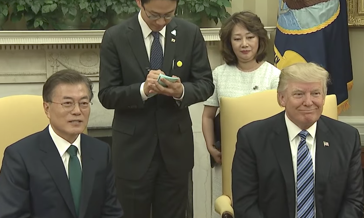 Remarks by President Trump, President Moon, Commerce Secretary Ross, and NEC Director Cohn in Bilateral Meeting