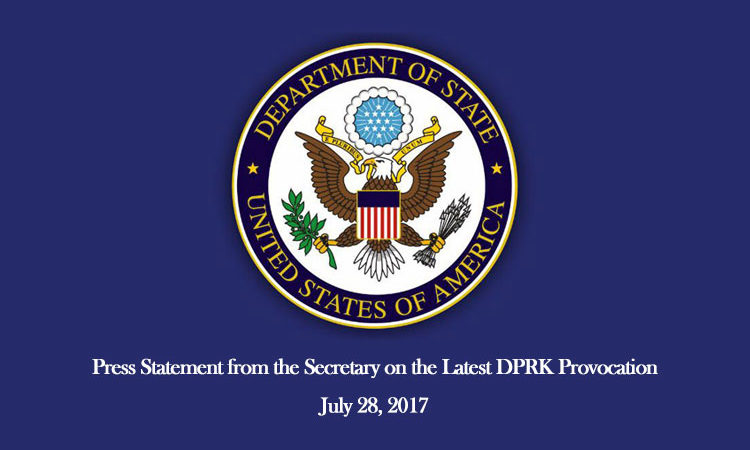 Press Statement from the Secretary on the Latest DPRK Provocation