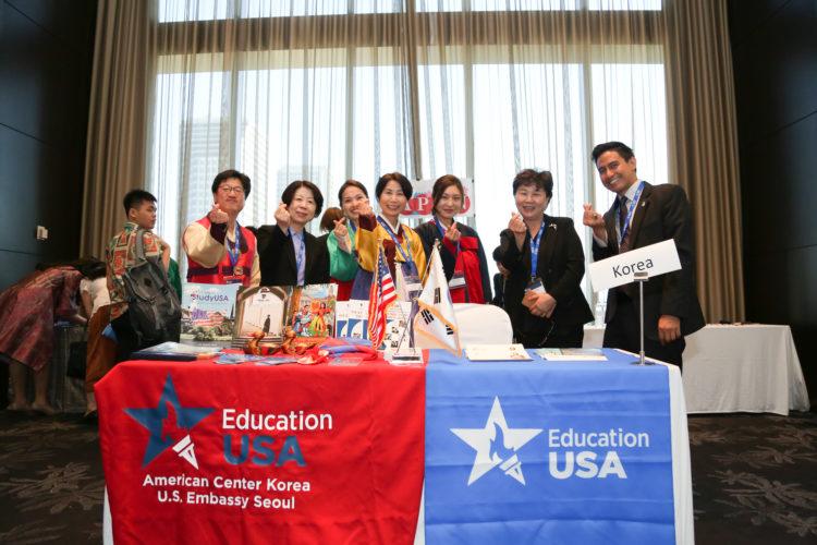 EAP EducationUSA Regional Forum 유학박람회장의 EducationUSA