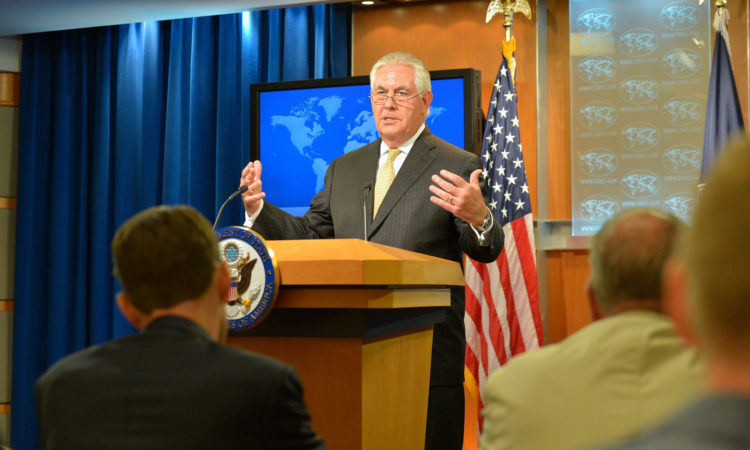 Secretary of State Rex Tillerson at a Press Availability
