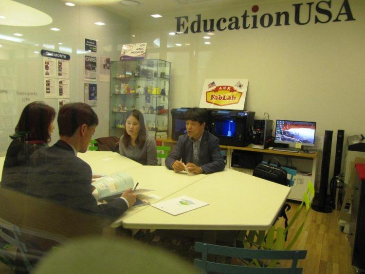 EducationUSA 상담센터, 한국교육기관과 공조
