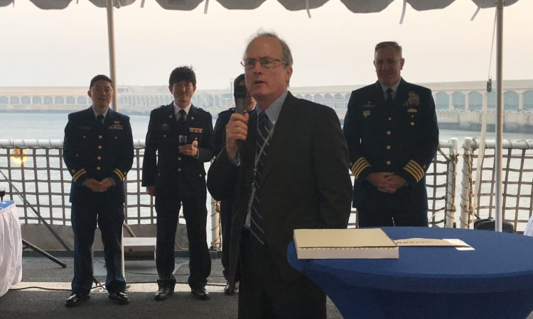 Deputy Chief of Mission and Consul Welcome the USCGC Bertholf upon Arrival in Jeju