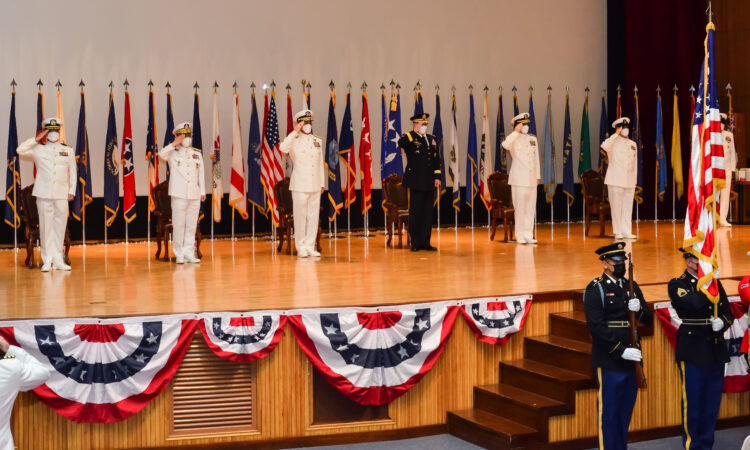 The change of command ceremony on September 29 for the 38th Commander, U.S. Naval Forces Korea