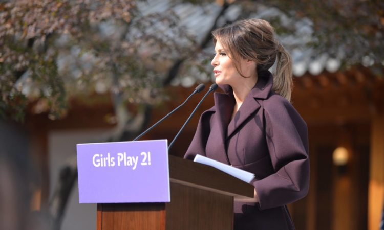 "November 7, 2017 - U.S. First Lady Melania Trump Attends ""Girls Play 2!"" Initiative"