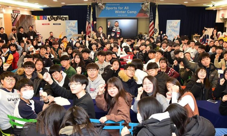 "U.S. Embassy Seoul Public Affairs Hosts a ""Sports for All"" Winter Camp at the American Center Korea"