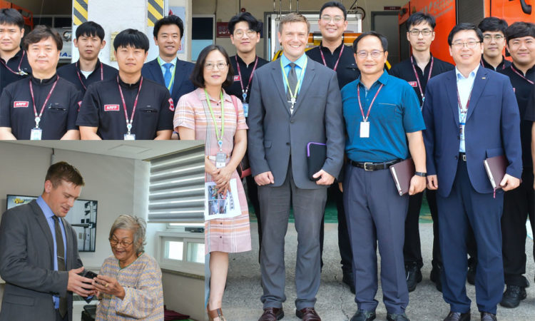 Acting Consul Karl Trunk Visits Gimhae International Airport and Gangdong Hospital in Busan