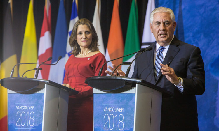Secretary Tillerson Participates in a Joint Press Availability at the Vancouver Foreign Ministers' Meeting