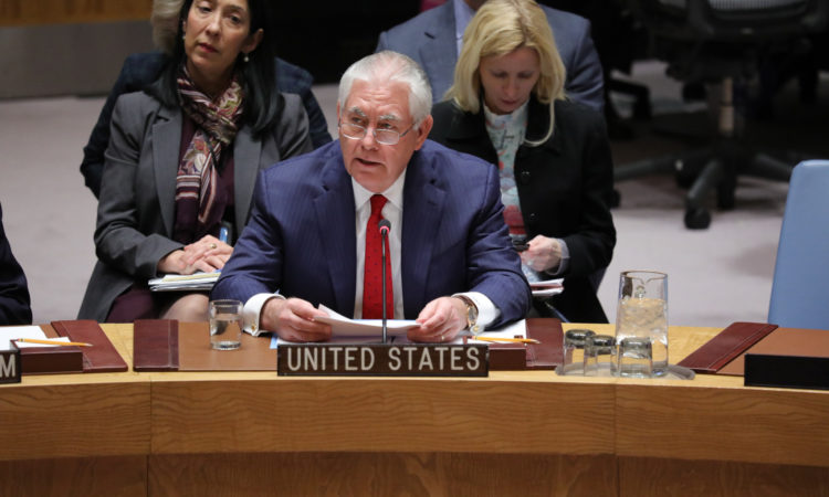 Secretary Tillerson Participates in the UNSC Ministerial on DPRK