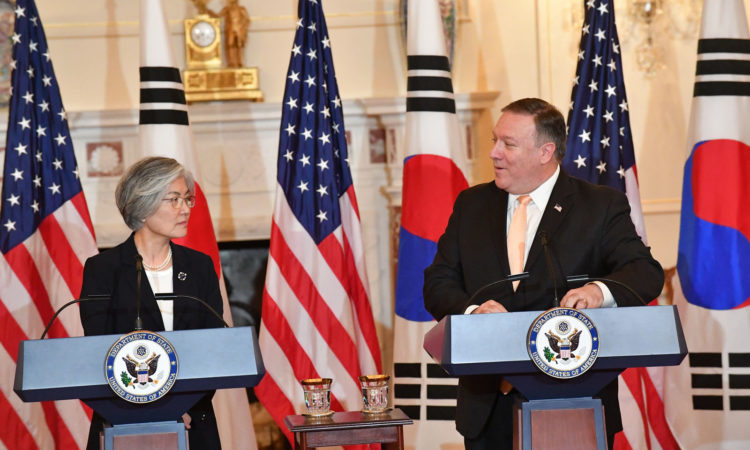 Secretary of State Mike Pompeo And Republic of Korea Foreign Minister Kang Kyung-wha At a Press Availability