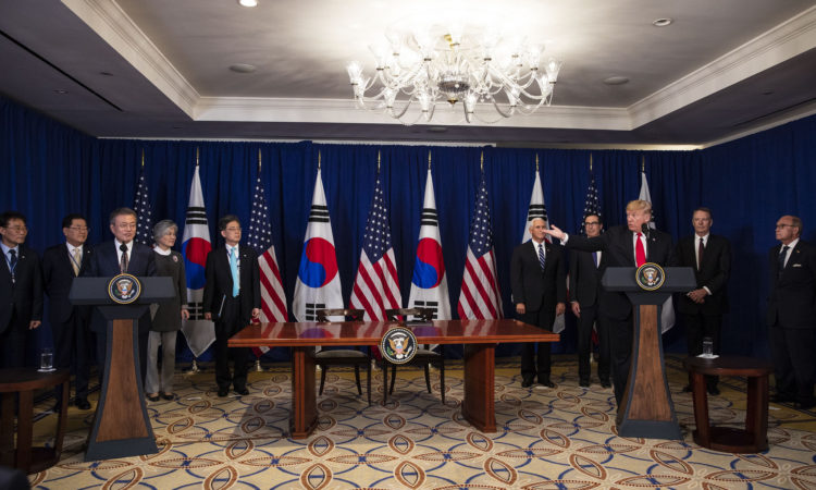 Remarks by President Trump and President Moon of the Republic of Korea at U.S.-Korea Free Trade Agreement Signing Ceremony