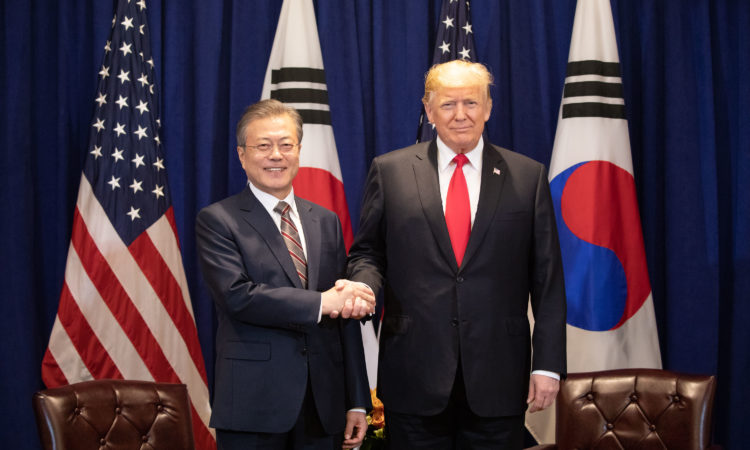 President Donald Trump Meets South Korean President Moon Jae-in