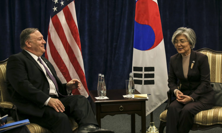 Secretary Pompeo Meets With ROK Foreign Minister Kyung-wha in Warsaw