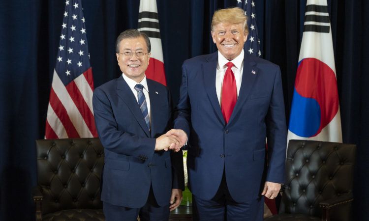 U.S. President Donald Trump Meets with ROK President Moon Jae-in at UNGA